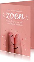 Grappige Corona valentijnskaart papieren zoen snel overdoen!