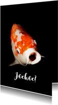 Grappige dierenkaart met een vis