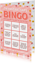 Grappige felicitatie zwangerschaps bullshit Bingo kaart