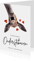 Grappige liefdeskaart met hert - ondersteboven van jou