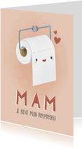 Grappige moederdag kaart wc rol 'Mam je bent mijn rolmodel'