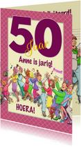 Grappige verjaardagskaart polonaise voor een vrouw