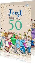 Grappige verjaardagskaart voor man rond de 50 jaar