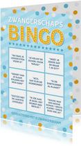 Grappige zwangerschaps felicitatiekaart - bullshit bingo