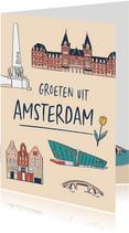 Groeten uit Amsterdam grachtenpandjes