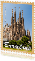 Groeten uit Barcelona Sagrada Familia