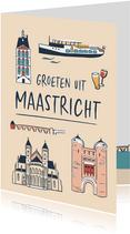 Groeten uit Maastricht gebouwen