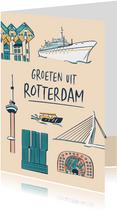 Groeten uit Rotterdam gebouwen