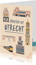 Groeten uit Utrecht gebouwen