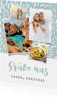 Grußkarte aus dem Urlaub mit eigenen Fotos