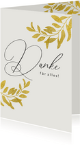 Grußkarte Danke goldene Blätter