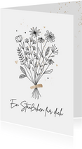 Grußkarte 'Ein Sträußchen für dich'
