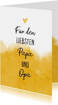 Grußkarte für den liebsten Papa und Opa Foto innen