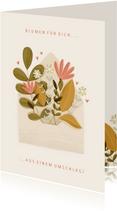 Grußkarte Gute Besserung Blumen aus Umschlag