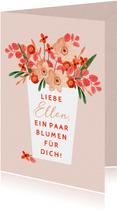 Grußkarte Gute Besserung Blumenstrauß