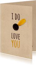 Grußkarte I do love you Blumenblätter