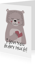 Grußkarte 'I love you beary much'