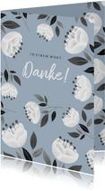 Grußkarte 'In einem Wort Danke'