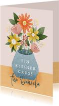 Grußkarte kleiner Blumengruß