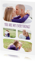 Grußkarte Liebe Fotocollage You are my everything