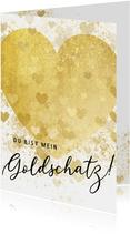 Grußkarte Liebe Goldschatz