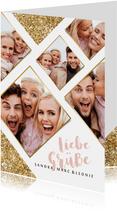 Grußkarte 'Liebe Grüße' Fotokarte