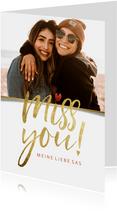 Grußkarte 'Miss you' eigenes Foto