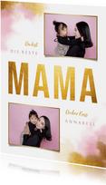 Grußkarte Muttertag Goldlook und Fotos