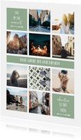 Grußkarte Urlaub Fotocollage 'Live in the moment'