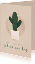 Grußkarte Valentinstag Kaktus