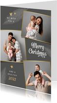 Grußkarte Weihnachten Fotocollage 'Merry Christmas'