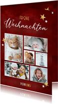 Grußkarte Weihnachten Fotos und Sterne