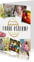 Grußkarte zu Ostern eigene Fotos & Ei