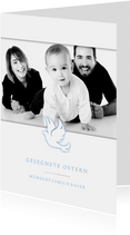 Grußkarte zu Ostern Taube und eigenes Foto
