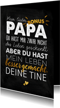 Grußkarte zum Vatertag Bonuspapa