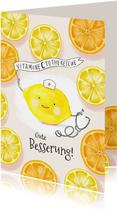 Gute Besserung Zitronen