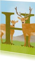 H van hert letterkaart