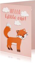 Felicitatiekaarten - hallo little one vosje