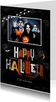 Halloween-Einladungskarte mit Foto