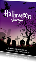 Halloween kaart met heks