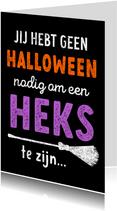Halloweenkaart grappig vriendschap