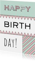 Happy birth day verjaardagskaart