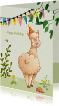 Happy birthday alpaca