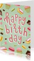 Happy-Birthday-Geburtstagskarte Leckereien