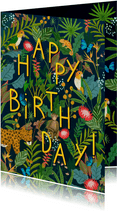 Happy Birthday! Jungle verjaardagskaart