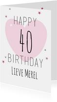 Verjaardagskaarten - Happy leeftijd Birthday-ByF