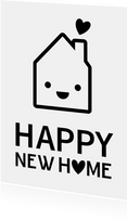 Happy new Home Glückwunschkarte