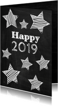 Happy New Year 2019 schoolbord-ByF