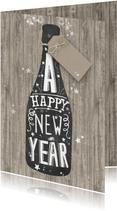 Happy New Year schoolbord