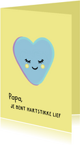 Hartstikke lieve vaderdagkaart met hartjessnoepje